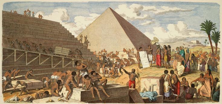 pembangunan piramida - Кто изобрел колесо?