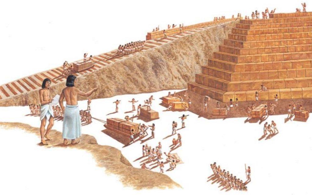 stroitelstvo piramid 1024x640 - Кто изобрел колесо?